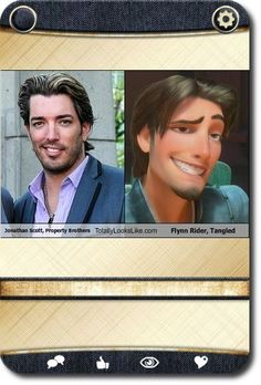 jonathan scott property brothers totally looks like flynn rider posted ...
