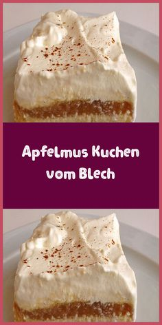 Apple sauce cake from a tray- Apfelmus Kuchen vom Blech Ingredients 3 cup / s flour 2 cup / s sugar 1 cup oil 1 … - Healthy Cake, Healthy Desserts, Dessert Recipes, Strudel, 3 Ingredient Desserts, Quick Easy Desserts, Sweets Cake, Strawberry Desserts, Vanilla Cake
