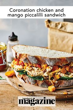 This coronation chicken sandwich puts a vibrant riff on the British classic. The homemade mango piccalilli will keep for up to a year and is a great addition to picnics. Get the Sainsbury's magazine recipe Coronation Chicken Sandwich, Coronation Chicken Recipe, Magazine Recipe, Piccalilli, Chicken Sandwich Recipes, Tea Sandwiches, Food Trends, Pickle, Picnics