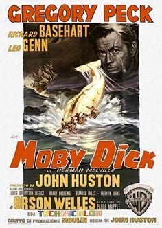 Moby dick la balena bianca film 16mm e poster
