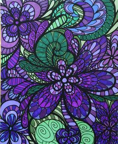 ColorIt Adult Coloring Book - Colorful Flowers Volume I