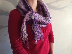 SALE Handmade Infinity Circle Scarf Purple Lilac by MimisPearTree