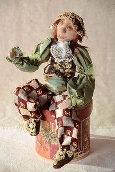 Handmade Doll Designer Toy Unusual Doll Gift For Baby Decor Ideas Interior Doll