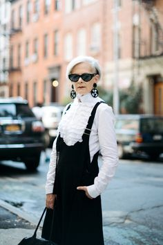 Blogger Lyn Slater of Accidental Icon with her unique, urban-modern aesthetic style
