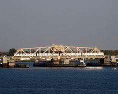 Beach Channel Subway Draw Bridge over Jamaica Bay, Queens, NY