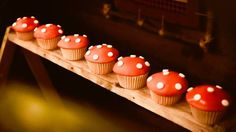 Toadstool cupcakes from a Rustic Woodland Camping Birthday Party on Kara's Party Ideas | KarasPartyIdeas.com (29)