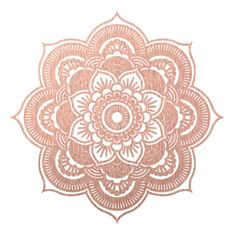 Rose gold mandala Art Print ($21) ❤ liked on Polyvore featuring home, home decor, wall art, fillers, borders, circle, circular, picture frame, round and rose gold home decor
