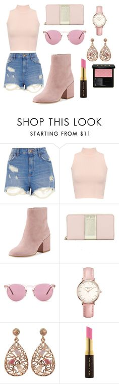"""""""Untitled #208"""" by babyelite ❤ liked on Polyvore featuring River Island, WearAll, Sam Edelman, Kate Spade, Oliver Peoples, Topshop, Luxiro, Kevyn Aucoin and Gucci"""