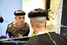 beautiful ultra high bowl cut..