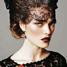 Face lace masks are the hottest trends and were featured on the major runways in London and Paris.