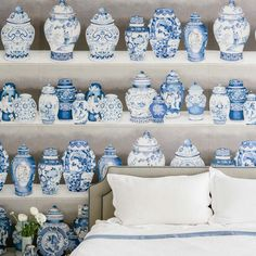 blue ginger jar wall