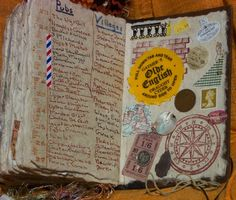 Keeping a Travel Journal. I love this idea. I collect most of my maps, tickets, pamphlets, etc. from all the places I visit. This is a great idea of a way to make them into awesome journals. Do It Yourself Inspiration, Travel Inspiration, Cool Journals, Travel Journals, I Want To Travel, Nice Travel, To Infinity And Beyond, Smash Book, Adventure Is Out There