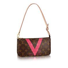 Pochette Louis Vuitton Rouge