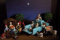 Day of the Dead Modern Nativity Scene | Flickr - Photo Sharing! - #DayofTheDead #SantaMuerte #CultOfSantaMuerte #LaSantaMuerte #LaSantísimaMuerte #DoñaSebastiana #TheSkinnyGirl #SugarSkull #DiaDeLosMuertos #Dead #Death #Skeleton #Skull #LaCalaveraCatrina #Calavera #Catrina