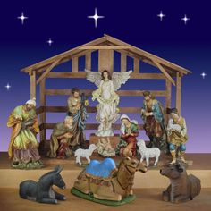"""Christmas Nativity from Joseph's Studio 40"""" scale 13 Pc. with Stable. Item #58501  Our Price: $2,999.00 No sales tax except in NY."""