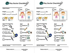 My Play Doctor Checklist & Appointment Cards - Imaginary/Dramatic Play from Courtney McKerley on TeachersNotebook.com -  (2 pages)  - Imaginary play is an essential part of a child's development. My Play Doctor Checklist is a great way for your student or child to learn how to interact with other children and play pretend doctor. This would be a great resource to use along with a l