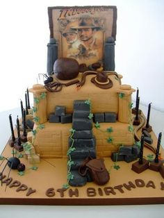 Another fab Indiana Jones cake Gâteau Indiana Jones, Beautiful Cakes, Amazing Cakes, Character Cakes, Disney Cakes, Cake Pictures, Take The Cake, Cakes For Boys, Boy Cakes