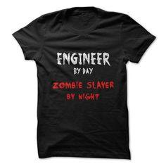 Engineer zombie T Shirts, Hoodies. Check price ==► https://www.sunfrog.com/Jobs/Engineer--zombie.html?41382