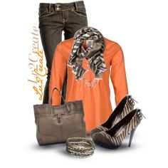 """Brown Zebra"" by lv2create on Polyvore"