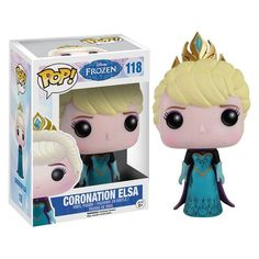 Here we have Elsa in Funko POP Vinyl form. Specifically this is Elsa in her coronation attire. The Coronation Elsa POP Vinyl looks fantastic and fans of Disney's animated film Frozen are sure to love Disney Pop, Frozen Disney, Elsa Frozen, Frozen Pop, Film Frozen, Frozen Vinyl, Frozen 2013, Figurine Disney, Pop Figurine