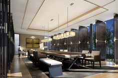 Hotel Lobby, Hotel Interiors, Office Interiors, Lobby Interior, Interior Design, Public Hotel, Modern Colonial, Corporate Office Design, Private Dining Room