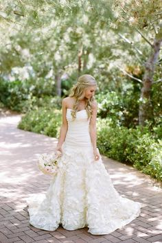 Jenny Lee Wedding Gown with Lace Rosettes