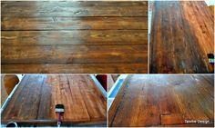 form follows function: Vanhan näköinen ruokapöytä, DIY