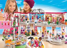 PLAYMOBIL FURNISHED SHOPPING MALL - 40 looks sensational at Playmobil!  Your favorite toy as a kid is reimagined for more modern play.  Features a variety of fun shops which contain interchangeable outfits!  The functioning ATM, bridal shop, and working elevator each amazed us!  Happy 40th Playmobil!   www.playmobil.us/on/demandware.store/Sites-US-Site/en_US/Product-Show?pid=5485&showSpareParts=false&cgid=Stadtleben