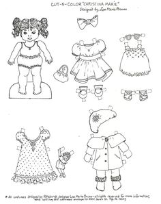 Christina The Little Paper Doll Coloring Page I Created In Honor Of My  Friendu0027s Daughter When