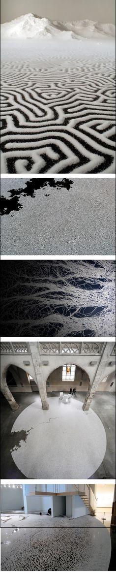 Salt Labyrinths Poured by Motoi Yamamoto