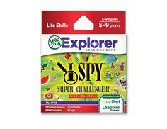 I Spy Super Challenger leappad game cartridge http://shop.leapfrog.com/leapfrog/jump/Explorer%22-Game-Cartridge%3A-I-SPY%AE-Super-Challenger!/productDetail/Game-Cartridges/LEAPSTEREXPLORER39101/cat750005?selectedColor=&selectedSize=&navAction=jump&navCount=0&categoryNav=false