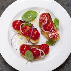 Små tomatbruscetta