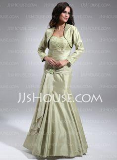 Bridesmaid Dresses - $132.99 - Sheath Sweetheart Floor-Length Taffeta Bridesmaid Dress With Ruffle Lace (007002099) http://jjshouse.com/Sheath-Sweetheart-Floor-Length-Taffeta-Bridesmaid-Dress-With-Ruffle-Lace-007002099-g2099