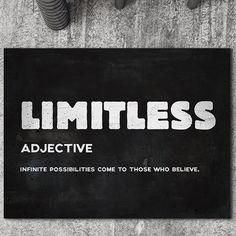 """Limitless"" Inspirational Canvas Art by PosterMMe Comic Poster, New Poster, Inspirational Canvas Art, Motivational Gifts, Large Canvas Wall Art, Husband Love, Black Women Art, Business Motivation, Home Office Decor"
