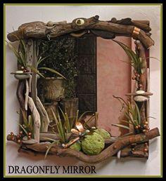 Dragonfly mirror created at Wild Orchid Studio, wildorchidedh.com