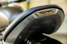Close up shows nice detailing on the Bonneville Bobber seat