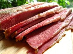 This slow cooker corned beef recipe is so easy, with basic ingredients, and it cooks on low for 7 hours. It is basic, but it is so very delicious. Hubby gave it 5 stars out of 5 and even my fussy 2-year-old ate it all. Hope you enjoy it! We ate this with roasted vegetables, and I topped mine with pickled mustard; my husband used gravy.