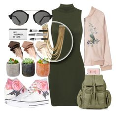 """"""""""" by naomy-nona ❤ liked on Polyvore featuring MANGO, Converse, Topshop, Shop Succulents, Kendra Scott, Illesteva, Urban Decay and Sephora Collection"""