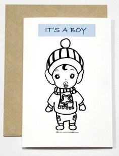It's a boy Card by CherryOnTopDsgns on Etsy