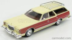 KESS-MODEL KE43021010 Scale 1/43  MERCURY COLONY PARK STATION WAGON 1978 CREAM WOOD