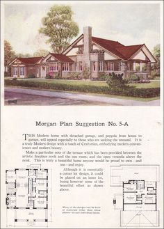 Prairie style - Modern Home - 1923 Morgan - Building with Assurance - No. 5-A