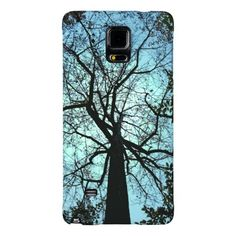 Up the Tree Tall Tulip Tree Blue Sky.  Available on Samsung, iPhone, iPod and Motorola Cases via Zazzle.  Designed by Bebops.
