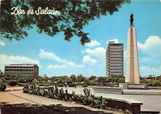 Uhuru Monument Der es Salaam Tanzania 1970s