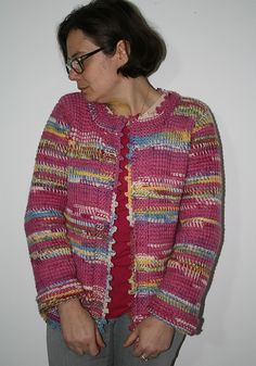 A tunisian crochet jacket, bottom up, an easy to folllow pattern, to be developed in any size you need.