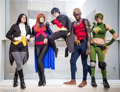 #Cosplay Young Justice: #Zatanna, Miss Martian, #Robin, #Aqualad & #Artemis