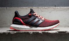 855512184701c The adidas Ultra Boost Receives a Red Gradient  Slime Season Steps.