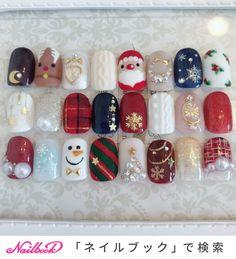Terrific Christmas / Hand / Bijoux / Test / Pearl-honey_in_da_house Nail Design Xmas Nail Art, Christmas Gel Nails, Holiday Nail Art, Cute Acrylic Nails, Cute Nails, Pretty Nails, Holloween Nails, Seasonal Nails, Christmas Nail Art Designs