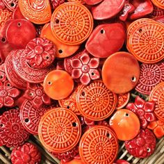 Luscious colours .. beautiful #beads #artisan #ceramic beads .. handcrafted @ our workshop in #Siem Reap #cambodia .. call into one of our shops near the #oldmarket .. visit our workshop or grab a... Ceramic Pots, Ceramic Beads, Old M, Fired Earth, Last Minute Gifts, New Shop, Pattern Design, Workshop, Artisan