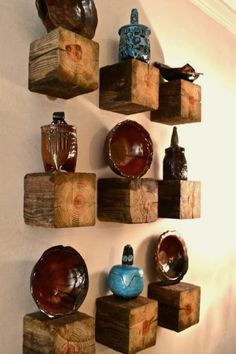 1 Post = 9 Rustic Elegant Shelves 1 post 9 rustic elegant shelves diy home decor how to repurposing upcycling shelving ideas woodworking projects The post 1 Post = 9 Rustic Elegant Shelves appeared first on Star Elite. Rustic Wall Decor, Rustic Walls, Wooden Walls, Wooden Blocks, Rustic Industrial Decor, Farmhouse Decor, Vintage Nautical Decor, Rustic Sofa, Wooden Cubes