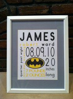 Nursery Prints Personalized Superhero Nursery by preppypersonals Baby Batman, Batman Nursery, Batman Bedroom, Superhero Baby Nursery, Batman Art, Baby Boy Rooms, Baby Boy Nurseries, Baby Love, Our Baby